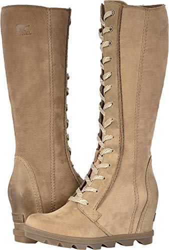 SOREL Women's Joan of Arctic¿ Wedge II Tall Ash Brown Full Grain Leather/Nubuck Combo 11 B US