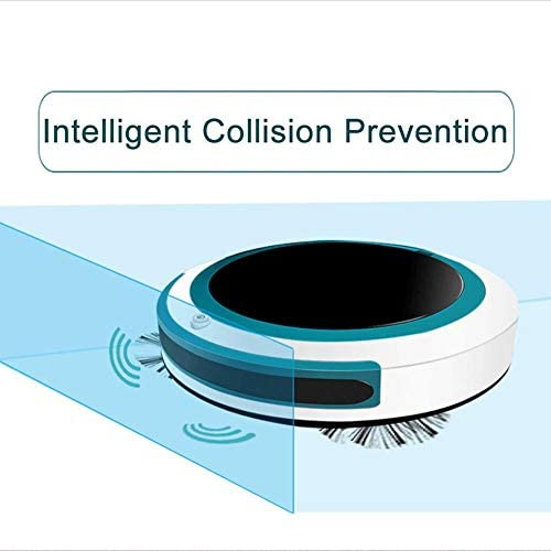 Vadrouille Balayage Aspiration Automatique Intelligent Aspirateur Robot sans Fil Automatique Balayeuse À Poussière Machine Anti-Chute pour La Maison, Rouge