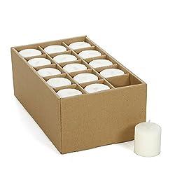 Hosley Set of 30 White Unscented Votive Candles. U