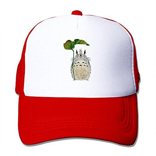 ALLHA My Neighbor Totoro Tonari No Totoro Sports Snapback Hats Mesh Adjustable Custom Cap Red