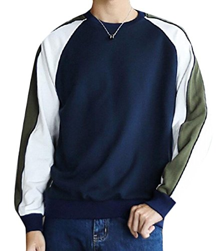 2 M Men's amp;W Color Sweater Round amp;S Winter Stitching Necklace aCaxzg1