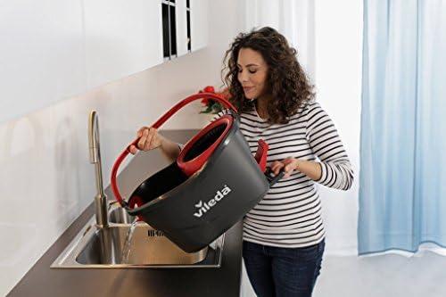 Vileda Easy Wring & Clean TURBO Set Complet Pack Special Seau rotatif + Balai + 2 têtes microfibres incluses - Home Robots
