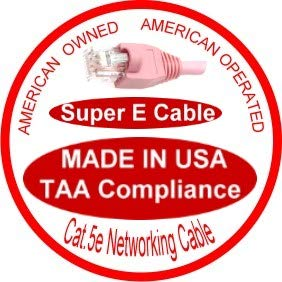 70 Ft UL cm and 100/% Copper. 24AWG, 50u Gold Plating Made in USA, Pink Cat5e Ethernet Patch Cable RJ45 Computer Networking Cord -