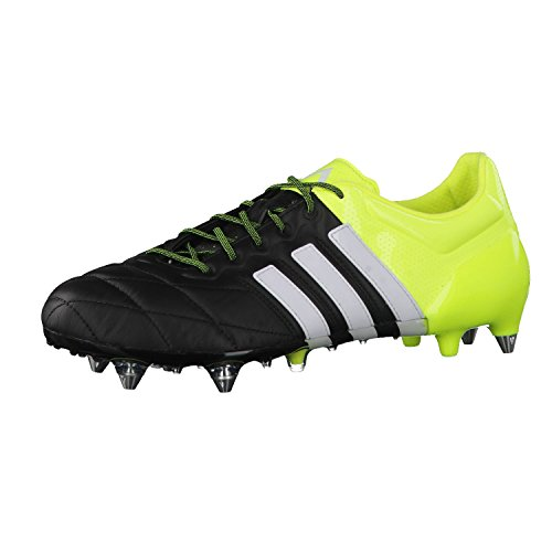 ADIDAS Ace 15.1 SG Scarpa da Calcio Uomo core black/ftwr white/solar yellow