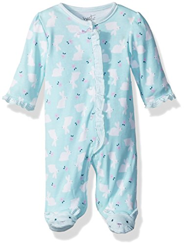 Best Beginnings Baby Girls' Printed Footie, Green/Multi, 6M