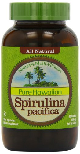 Nutrex Hawaii Hawaiian Spirulina Pacifica 500 mgs. 400-tablet Bottle