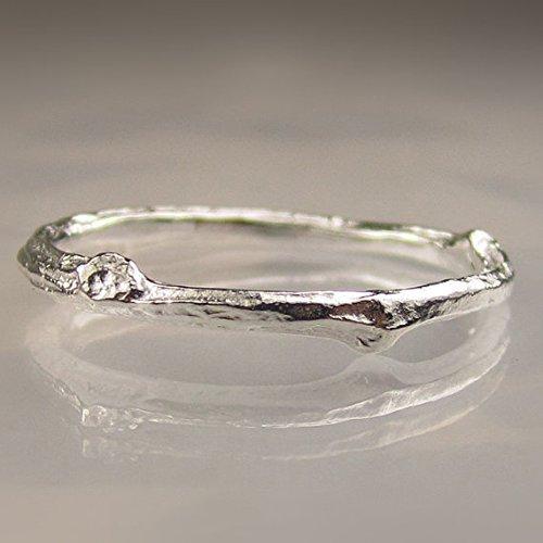 Amazoncom Twig Ring in Sterling Silver Twig Wedding Band