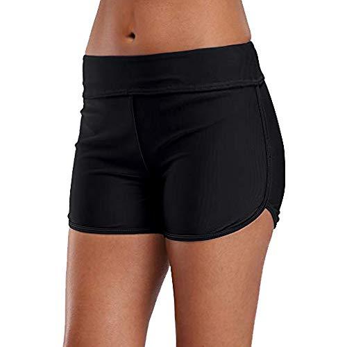 Women's Boy Shorts High Waist Swim Shorts Boardshorts Swimwear Beach Bikini Tankini Boy Leg Bottoms ...