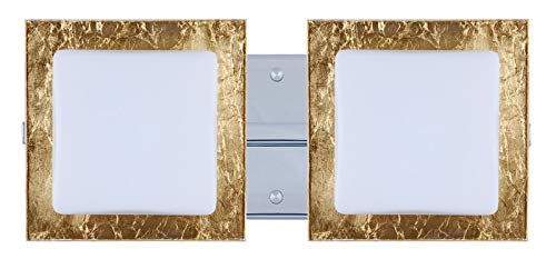 - Besa Lighting 2WS-7735GF-CR Series Wall Sconce with Opal/Gold Foil Chrome Glass, 120V
