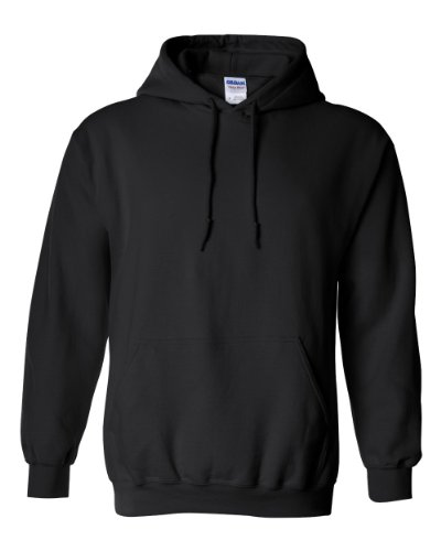 Gildan 18500 - Classic Fit Adult Hooded Sweatshirt Heavy Blend - First Quality - Black - X-Large