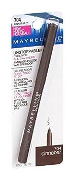 Maybelline New York Unstoppable Eyeliner, Cinnabar 704 0.01 oz Pack of 12