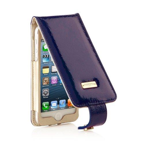 Pipetto Luxuriöse Lederhülle für iPhone 5 (mit Druckknopfverschluss)