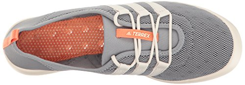 quality design 284d8 44e83 adidas outdoor Womens Terrex Climacool Boat Sleek Water Shoe, mid  GreyChalk White