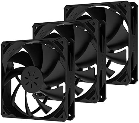 uphere 120mm Case Fan Long Life Cooling Case Fan for Computer Cases Cooling,3-Pack,NK12BK3-3