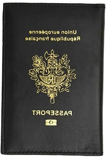 Mikash FRANCE Travel Leather Passport Organizer Holder Card Case Protector Cover Wallet | Model TRVLWLLT - 1407 |