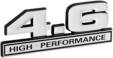 Ford Mustang White Chrome 5.0 High Performance Emblem