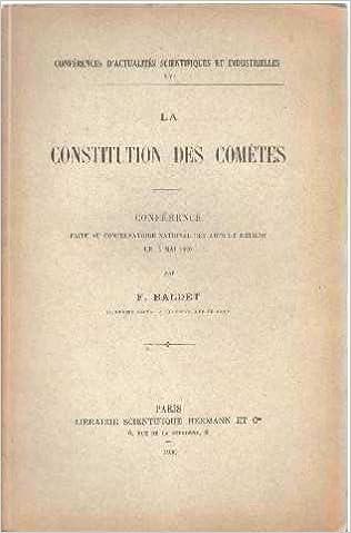 En ligne téléchargement gratuit La constitution des comètes. conférence faite au conservatoire national des arts et métiers le 14 mai 1930. pdf, epub ebook