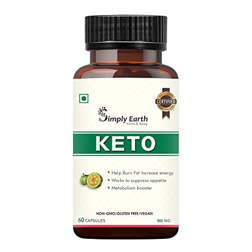 Simply Earth Keto Natural Weight Loss Supplement | Belly Fat Burner for Men and Women | Green Coffee, Garcinia Cambogia, Green Tea Extract | 800 MG | 60 Capsules