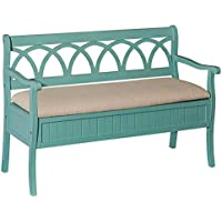 Storage Bench in Teal Finish