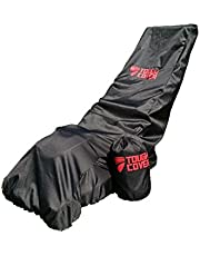 Premium Waterproof Lawn Mower Cover by ToughCover. Heavy Duty 600D Marine Grade Fabric. Universal Fit. Weather UV & Mold Protection. With Drawstring Storage Bag.