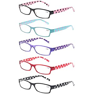 Reading Glasses 5 Pack Great Value Ladies Readers Quality Fashion Glasses for Women