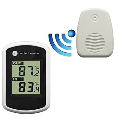 Ambient Weather WS-04 Wireless Thermometer with Indoor and Outdoor Temperature