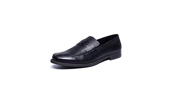 Business casual zapatos moda masculina/Viejos zapatos retros de Inglaterra-A Longitud del pie=25.8CM(10.2Inch) tuJYB9QZJI