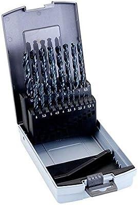Alyco 121320 - Juego 19 brocas HSS para metal en caja metalica (1-10x0,5 mm): Amazon.es: Bricolaje y herramientas