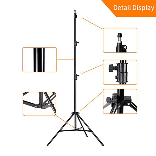 MOUNTDOG Upgraded 6.5 Ft/ 200CM / 78inch Photography Tripod Light Stand Aluminum Alloy Photographic Stand for Studio Reflector Softbox Umbrellas-6.5ftX2 by MOUNTDOG (Image #3)