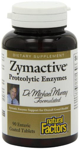 Natural Factors - Zymactive Proteolytic Enzyme, Systemic Enzyme Support, 90 Count
