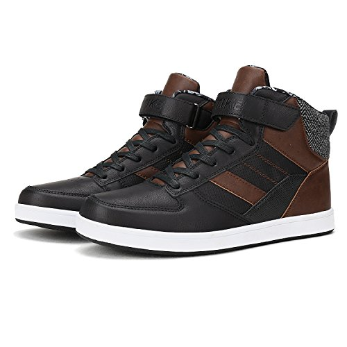 Mode Baskets Bottines Baskets Baskets Mixte Montantes Adulte Leather Boy Marron VITIKE Sneaker w4qRCW