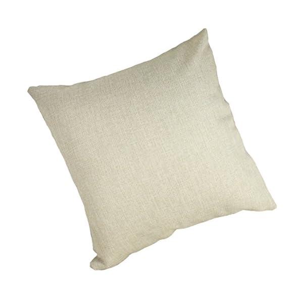 Moyun Cute Pet Basset Hound Dog Pattern Cotton Linen Throw Pillowcase Cushion Cover Car Sofa Home Decor 45 x 45 cm 2
