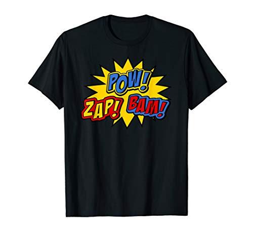 Superhero POW ZAP BAM Shirt for Men, Women and Kids -