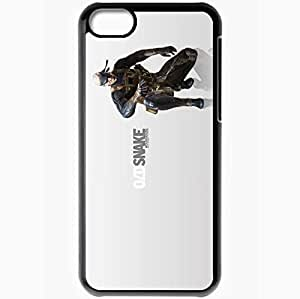 Personalized iPhone 5C Cell phone Case/Cover Skin Metal Gear Solid 4 Guns Of The Patriots Black