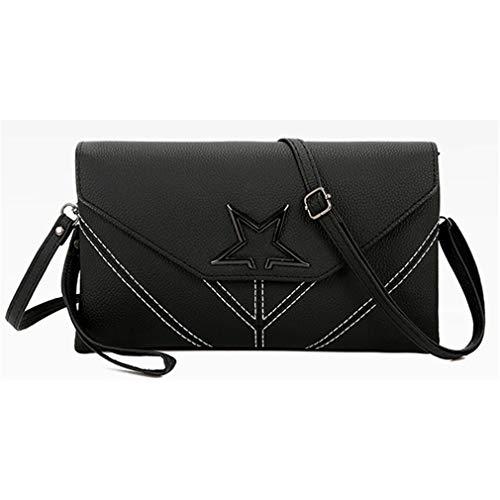 b72524069ae6 Cujubag Women Leather Clutch Shoulder Bag Black 26x16x5 cm