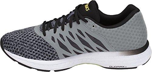 ASICS Mens Gel-Exalt 4 Running Shoe, Stone Grey/Black/Lime, 10.5 D(M) US (Casual Asics Shoes)