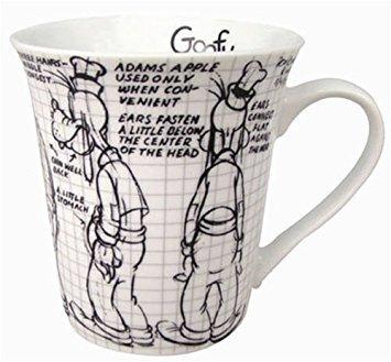 Disney Goofy Sketch Book 11oz. Ceramic Mug (Goofy Mug)
