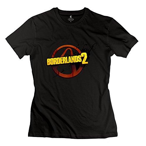StaBe Women's Borderlands 2 Logo T-Shirt Unique Quotes XL Black