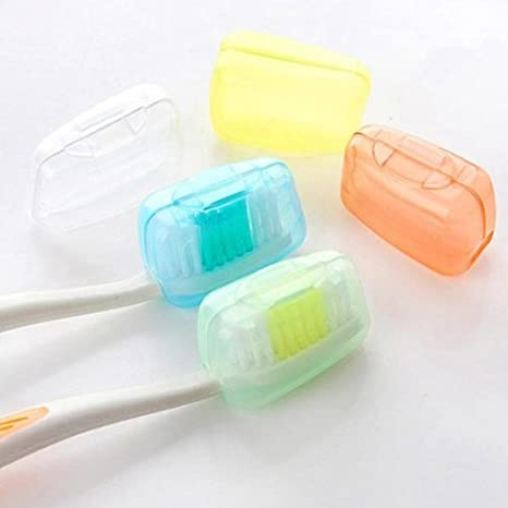 5* Toothbrush Head Cover Case Cap Travel Hike Camping Brush Cleaner Protectors