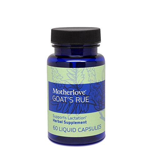 Motherlove Goat's Rue Herbal Breastfeeding Supplement for Lactation Support, 60 Liquid Capsules