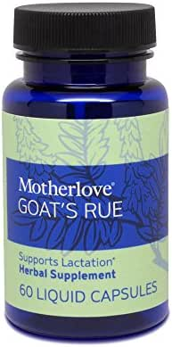 Motherlove - Goat's Rue, Potent Herbal Breastfeeding Supplement, Supports Mammary Tissue Growth and Breast Milk Supply, Alcohol-Free Vegan Liquid Capsules with Organic Herb, 60 ct.
