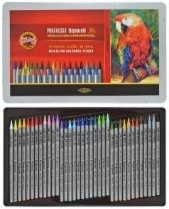 36 lápices de acuarela estuche minas de lápices de colores acuarela PROGRESSO de KOH-I-NOOR lápices de dibujo lápices de colores: Amazon.es: Hogar