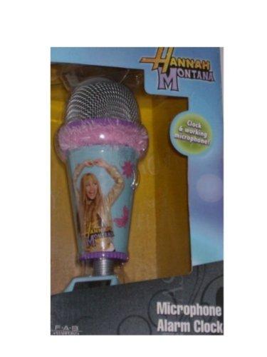 Hannah Montana Microphone Alarm Clock Real Working Mic Pink fur (Hannah Montana Alarm Clock)