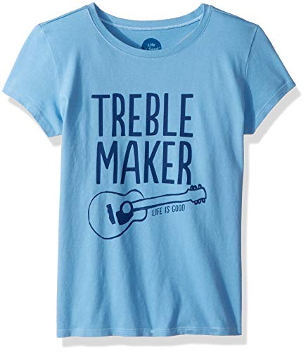 - Life is Good Girls Crusher Graphic T-Shirts Collection,Treble Maker,Powder Blue,Large