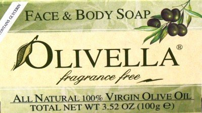 Olivella Soap Bar 3.52 oz. Fragrance Free (Case of 6)