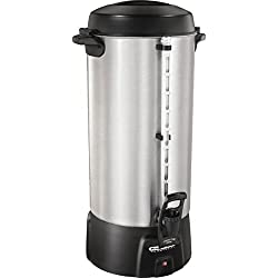 Proctor Silex 100 Cup Commercial Aluminum Coffee Urn - One-Handed Dispensing