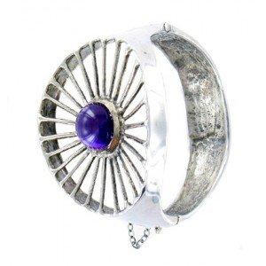Bracelet Toulhoat une améthyste 16.5 cm
