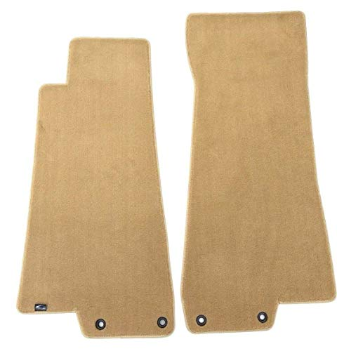 - Lloyd Mats Part Compatible with Jaguar XK8 Plush Custom Carpet Front Floor Mats  Tan Fits Coupe Convertible 1997-2006With 2 Grommets on Both Mats