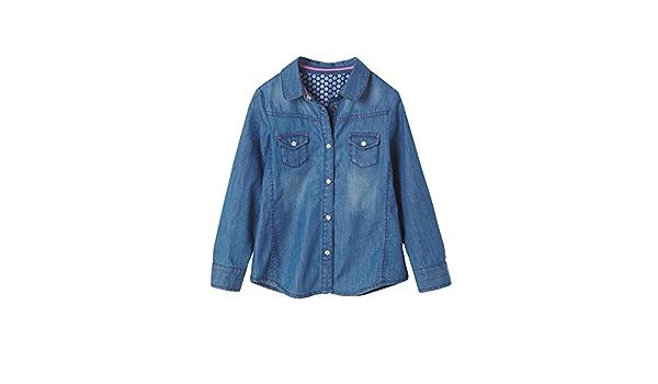 VERTBAUDET Camisa Vaquera niña Azul Oscuro Liso 5A: Amazon.es ...