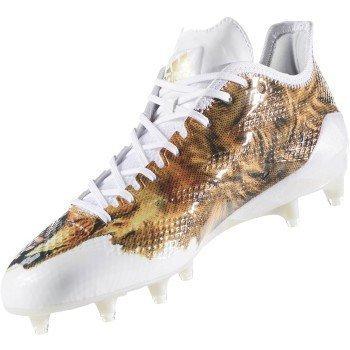 adidas Adizero 5Star 6.0 Uncaged Cleat Men's Football 8.5 Bear-White-Metallic Gold